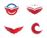 Vector de Wing Logo Template del halcón Foto de archivo libre de regalías