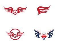 Vector de Wing Logo Template del halcón Imagenes de archivo