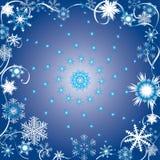 Vector de winterachtergrond. Royalty-vrije Stock Foto's