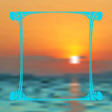 Vector de zomerachtergrond Stock Foto's