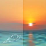 Vector de zomerachtergrond Stock Fotografie