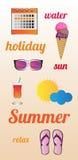 Vector de zomeraffiche Stock Afbeeldingen