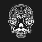 Vector  Dead Skull illustration, Hand drawn Skull in zentangle s Stock Photos
