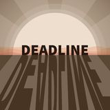 Vector deadline concept Stock Image
