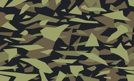 Free Vector Debris Camouflage, Green Military Background. Camo Pattern Of Geometric Triangles Shapes. Royalty Free Stock Photo - 140175085
