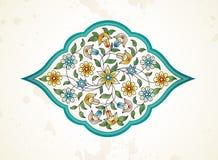 Vector decor, arabesque in Eastern style. Vector element, arabesque for design template. Premium ornament in Eastern style. Arabic floral illustration. Ornate stock illustration