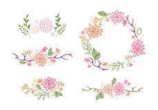 Vector Decor with Flowers Royalty Free Stock Photos