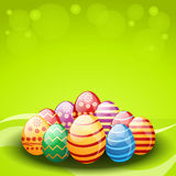 Vector decorated easter eggs Stock Images