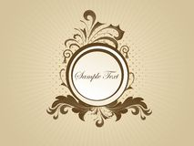 Vector decorated frame Royalty Free Stock Images