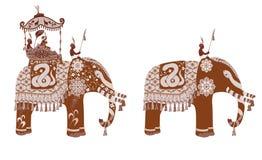 Indian Elephant silhouette Stock Photos