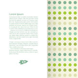 Vector decorated template with place for your content. Royalty Free Stock Image