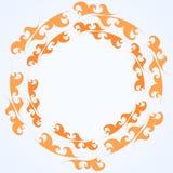 Vector decoratief de brandkader van het cirkelornament Stock Foto's