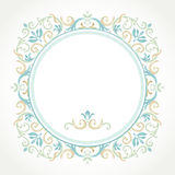Vector decoratief kader in Victoriaanse stijl Stock Foto