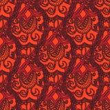 Vector decoratief krabbels naadloos patroon Royalty-vrije Stock Afbeeldingen