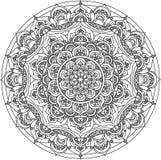 Vector decoratief mandalaornament Stock Illustratie