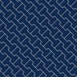 Vector decoratieve achtergrond - eenvoudig naadloos geometrisch patroon royalty-vrije illustratie