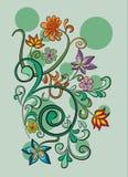 Vector decoratieve bloemachtergrond Stock Fotografie