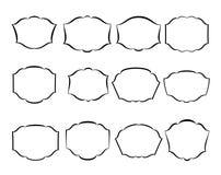 Vector decoratieve frames Royalty-vrije Stock Afbeeldingen