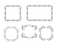Vector decoratieve frames Royalty-vrije Stock Fotografie