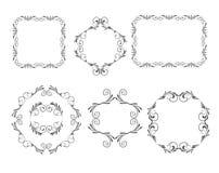 Vector decoratieve frames Stock Foto