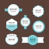 Vector decoratieve geplaatste etiketten Stock Afbeelding