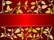 Vector decoratieve kaart Royalty-vrije Stock Foto's