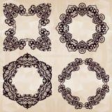 Vector decoratieve kaders Royalty-vrije Stock Foto's