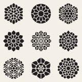 Vector Decoratieve Mandala Ornaments Illustration Royalty-vrije Stock Foto