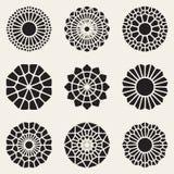 Vector Decoratieve Mandala Ornaments Illustration Royalty-vrije Stock Foto's