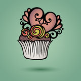 Vector Decoratieve Overladen Cake Royalty-vrije Stock Afbeeldingen