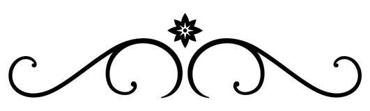 Vector Decoratieve Regel Stock Afbeeldingen