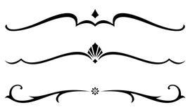 Vector Decoratieve Regels Royalty-vrije Stock Fotografie