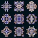 Vector decoratieve ronde elementen Stock Fotografie