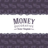 Vector decorating design made of isometric dollar Royalty Free Stock Photography