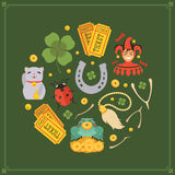 Vector decorating design made of Lucky Charms Stock Image