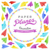 Vector decorating design made of paper planes Stock Image