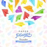 Vector decorating design made of paper planes Stock Photography