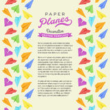 Vector decorating design made of paper planes Royalty Free Stock Photos