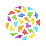 Vector decorating design made of paper planes Royalty Free Stock Image