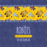 Vector decorating design made of robots Stock Photo