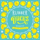 Vector decorating design made of yellow rubber Royalty Free Stock Photo
