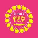 Vector decorating design made of yellow rubber Stock Photos