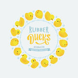 Vector decorating design made of yellow rubber Stock Images