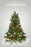Vector Decoration Christmas Tree for holiday .Vector/Illustration Stock Photo