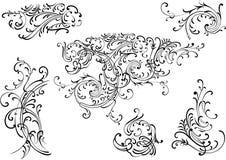 Vector decoration elements. Illustration of a vector decoration elements Royalty Free Stock Photo