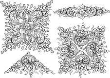 Vector decoration elements. Illustration of a vector decoration elements Stock Image
