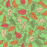 Vector Decoration Pattern. Seamless sprout. Vector Decoration Pattern with Leaves. Seamless sprout Stock Photo