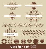 Vector decoration set Royalty Free Stock Image