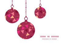 Vector decorations flags Christmas ornaments Royalty Free Stock Images