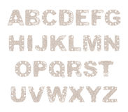 Vector decorative alphabet. Royalty Free Stock Photography